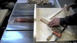Woodworking - How To Make Picture Frames On A Table Saw Miter Sled - Methods & Skills