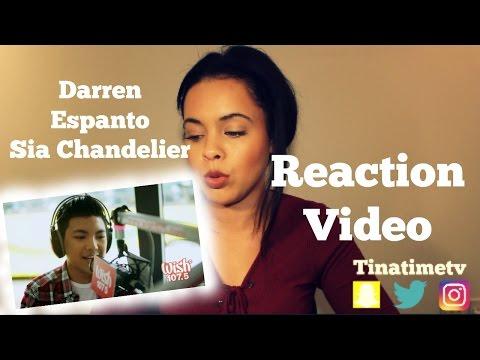 "Darren Espanto - Chandelier (Sia) LIVE Cover on Wish FM 107.5 - ""Reaction Video"""