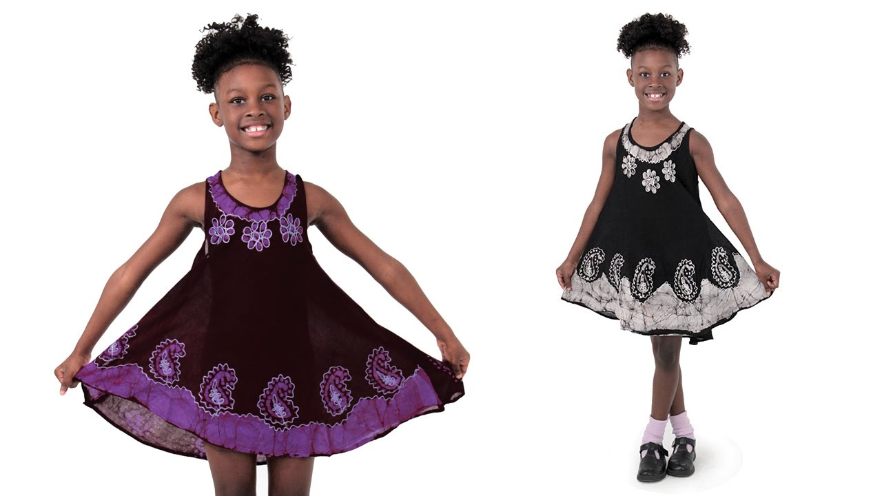 African clothes for children (girls) Africa imports - YouTube