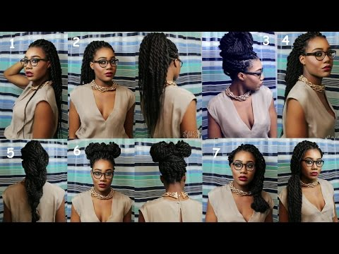 7 Senegalese Twists/Box Braids hairstyles for the Lazy -- Easy Romantic Styles!