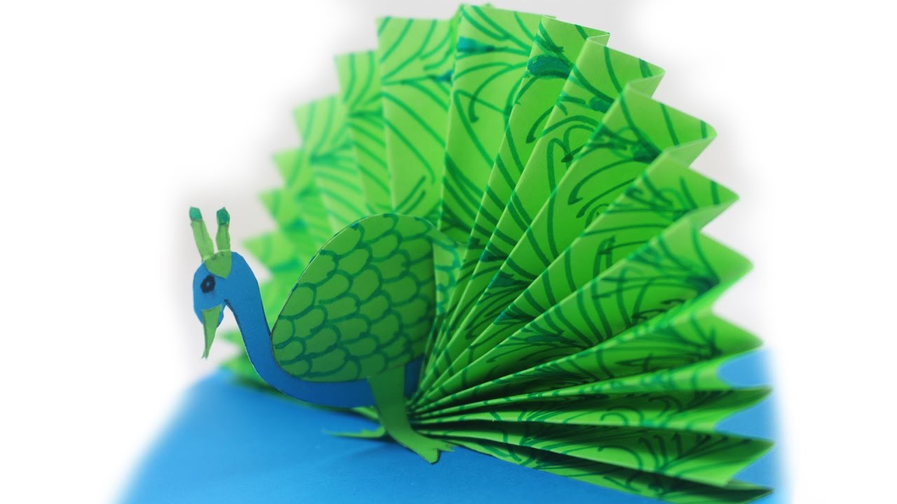 origami peacock how to make a paper peacock easy