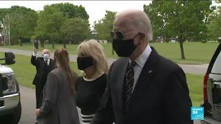Trump calls demonstrators 'terrorists' while Biden turns up to George Floyd demonstration