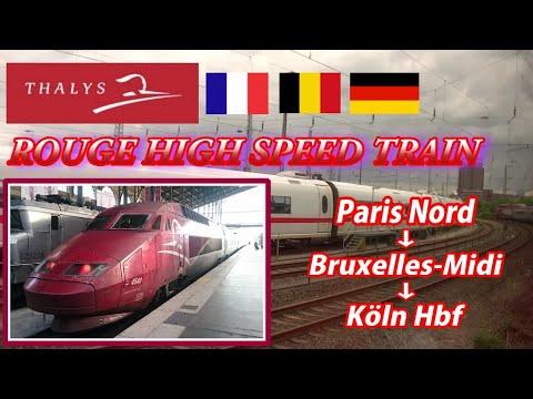 THALYS / Paris Gare Du Nord → Köln(Cologne) Hbf  (Passenger's View)