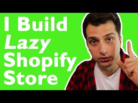 I Build a Lazy Shopify Store (Step by Step w/ Zero Up Lab. 3 Days Left)