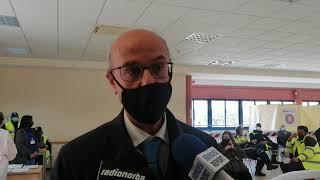 """Lopalco visita hub vaccinale a Brindisi:""""Siamo in terza ondata, dati da zona arancione"""""""
