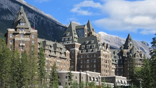 Inside the world-famous FAIRMONT BANFF SPRINGS HOTEL (Canad...