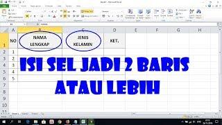 Cara Membuat Teks Di Excel Menjadi Dua Baris Atau Lebih Pada Satu Sel