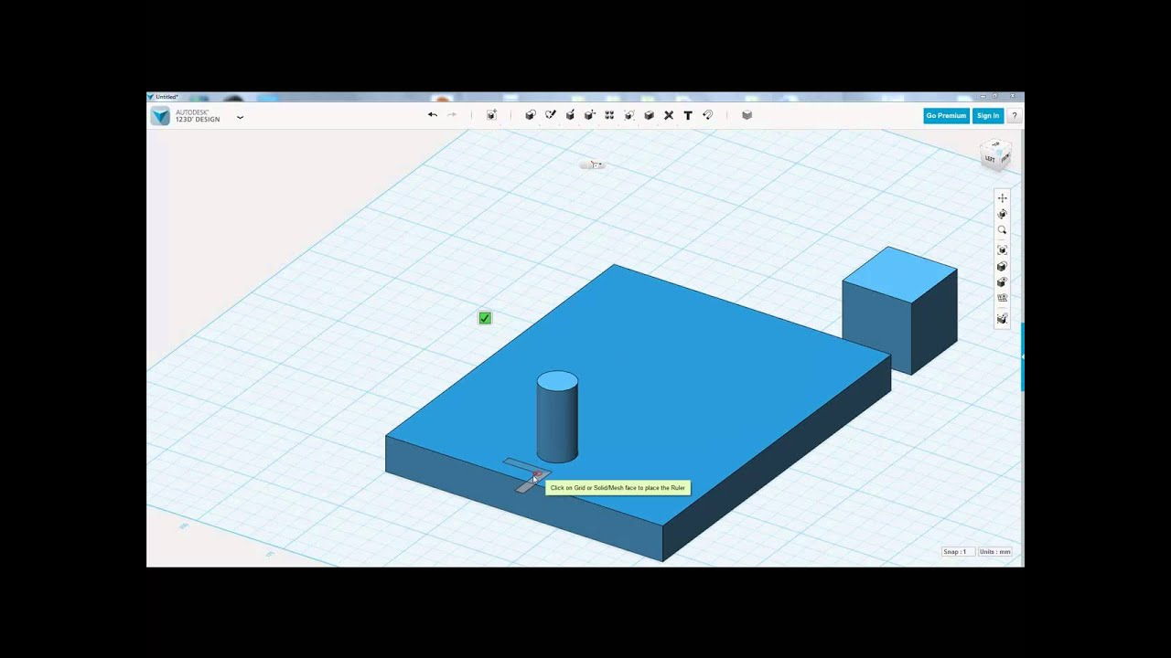 Autodesk 123d design ruler tool youtube 123d cad