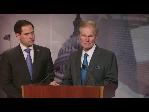 WEB EXTRA: Florida Senators Marco Rubio and Bill Nelson announce gun violence restraining order bill