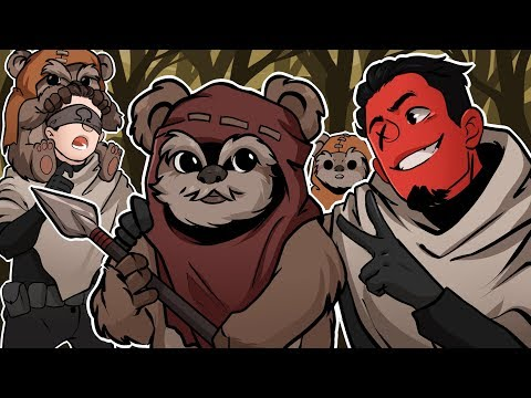 HANGING OUT WITH THE EWOKS! | Star Wars: Battlefront 2 (w/ Ohmwrecker)