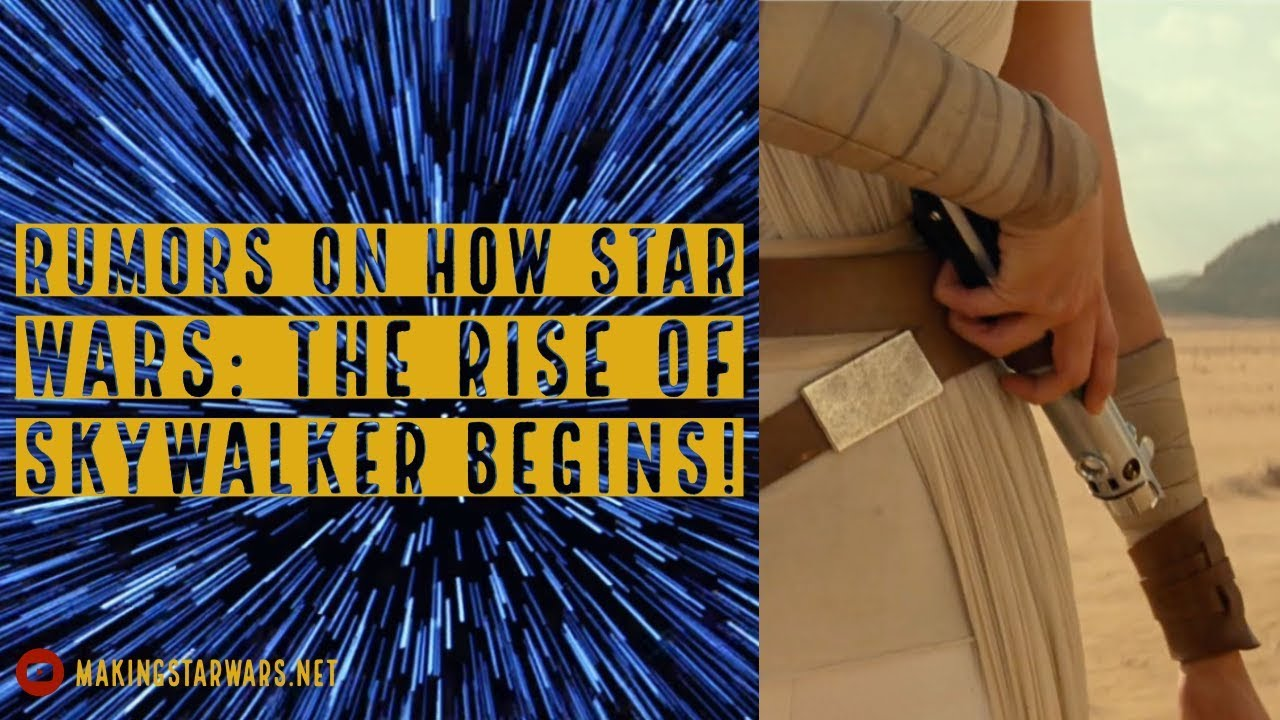 How Star Wars: The Rise of Skywalker begins! Rumors with the Kids!