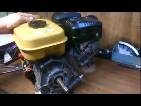 запуск двигателя Robin Subaru EX 13