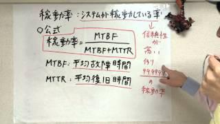 信頼性 応用情報・基本情報・ITパスポートのキーワード動画解説