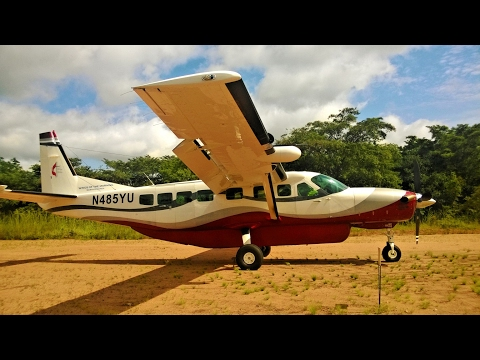 Take off from African jungle | bushplane