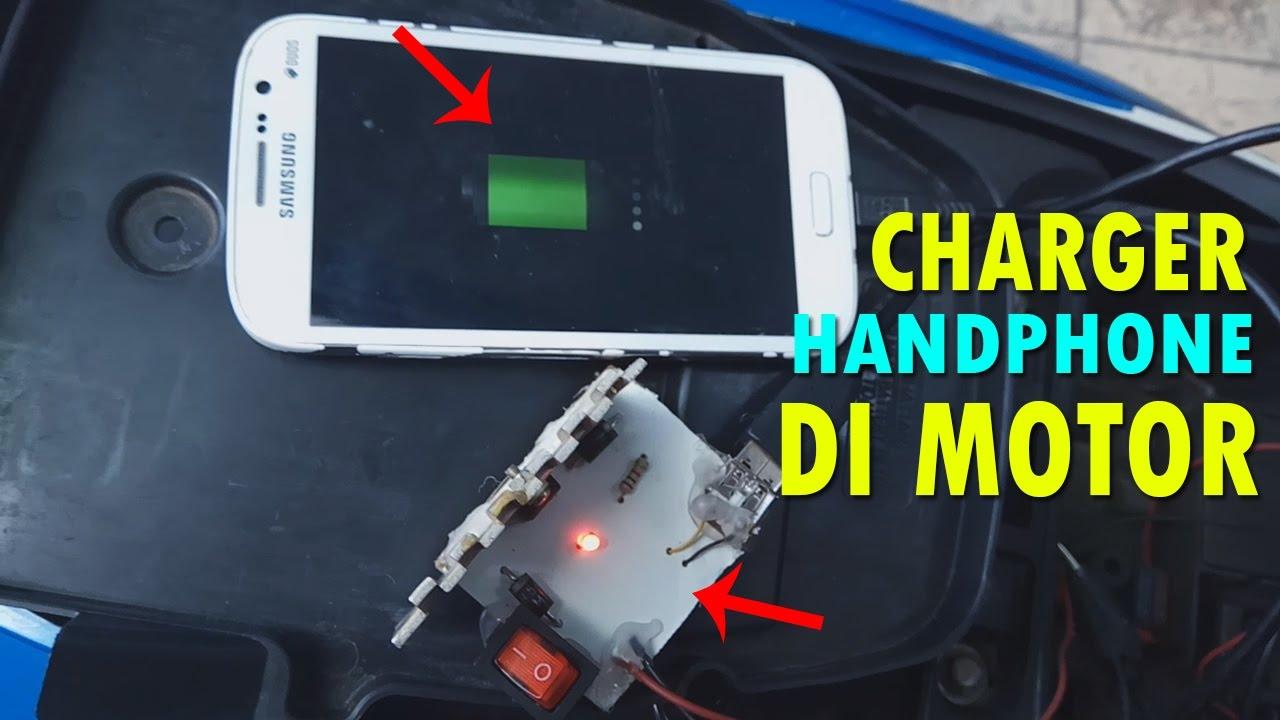 Cara Membuat Charger Hp Koneksi Usb Di Sepeda Motor Youtube Fast Aki