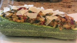 ~stuffed Zucchini Recipe With Linda's Pantry~