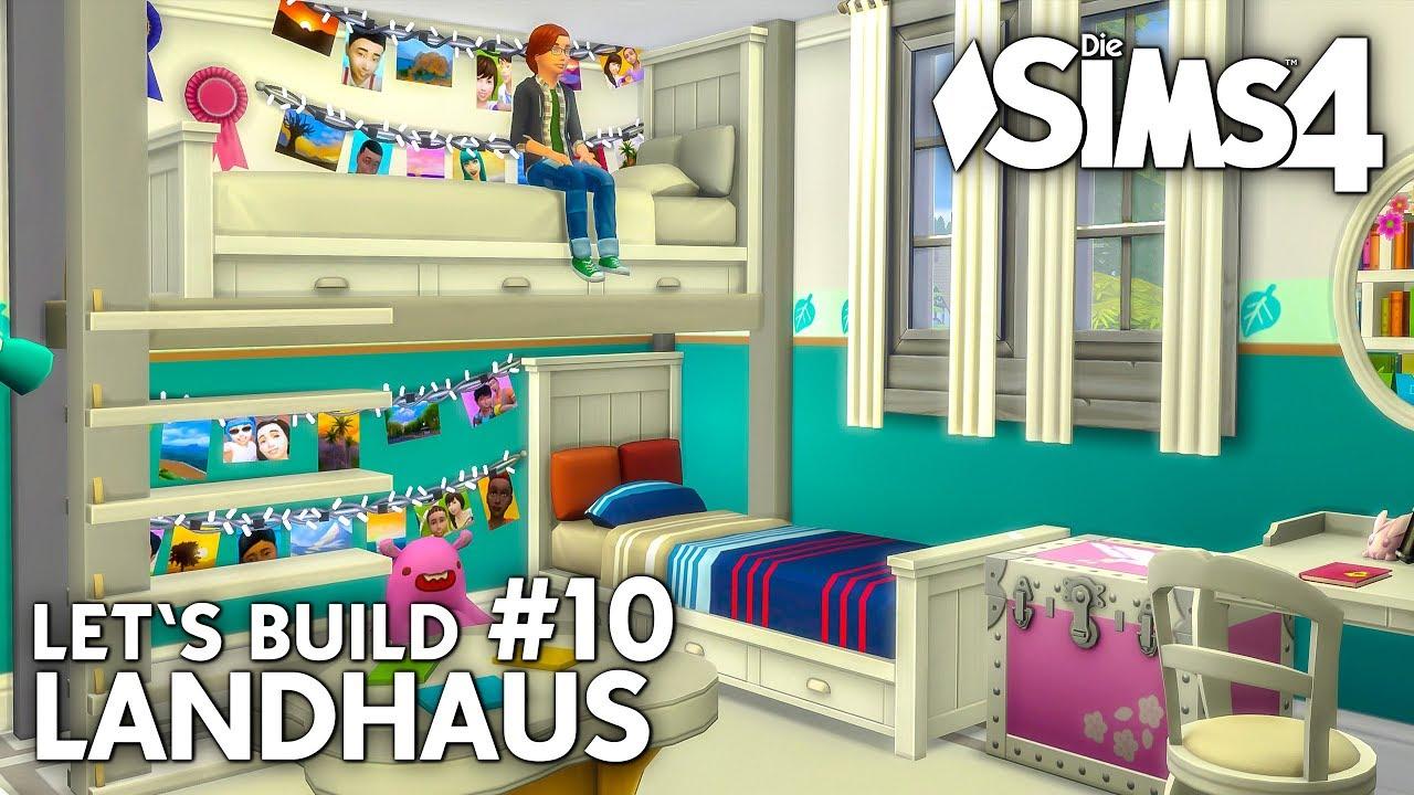 Landhaus 10 kinderzimmer mit hochbett deutsch die sims 4 haus bauen youtube - Landhaus kinderzimmer ...