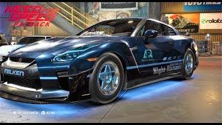 NFS Payback course poursuite et custom moteur Nissan GTR abandonnée