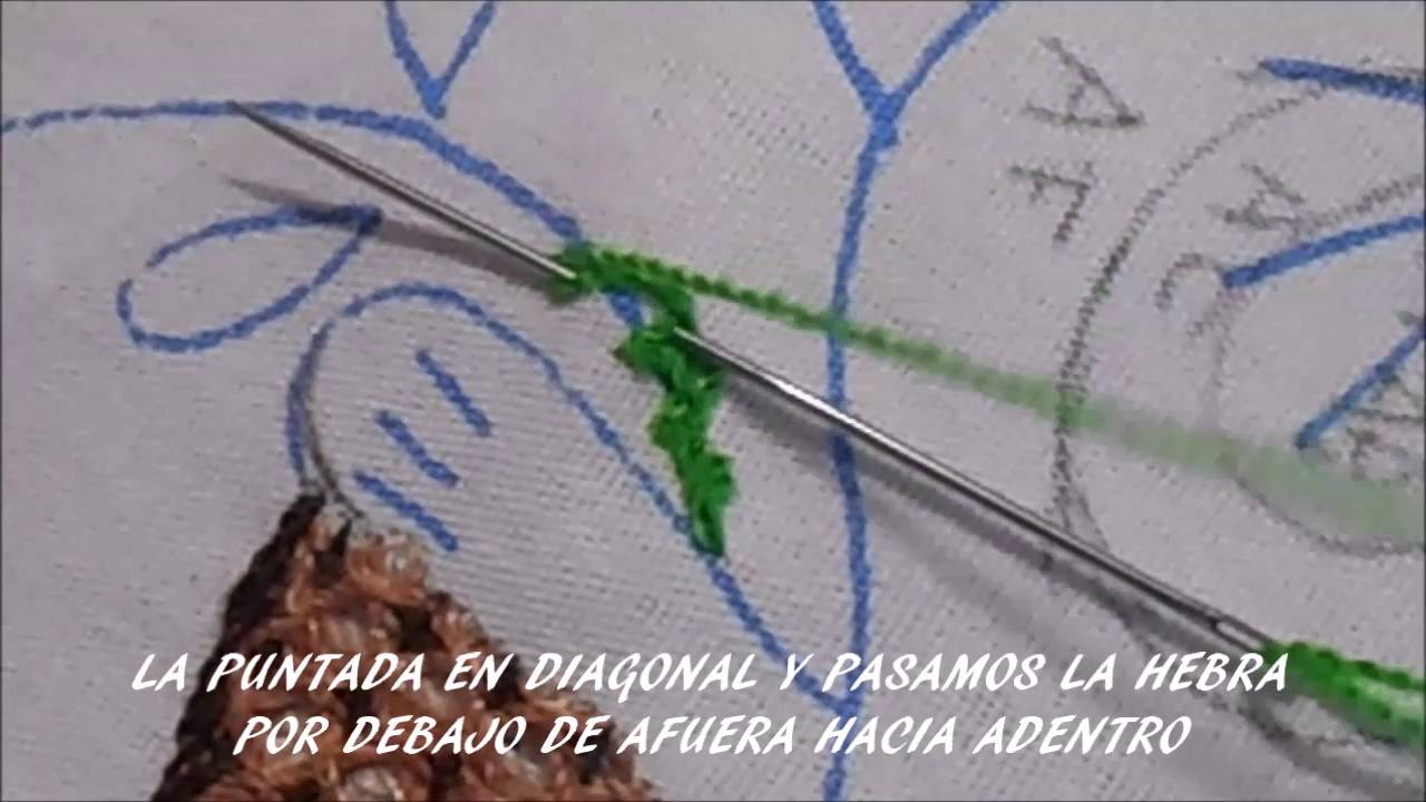 Puntada en tallo paso a paso bordandoconestilo youtube - Como coser cortinas paso a paso ...