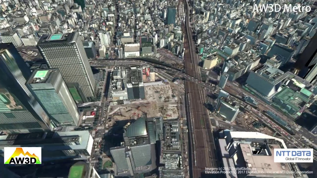 Aerial Map Of Japan.Aw3d Metro Tokyo Japan Aw3d Global High Resolution 3d Map Youtube