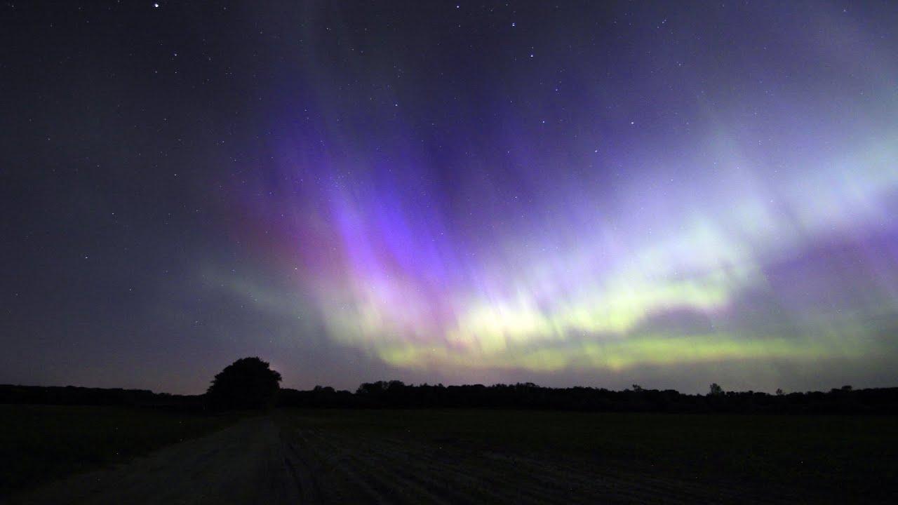 6 23 2015 sauk rapids minnesota aurora borealis youtube