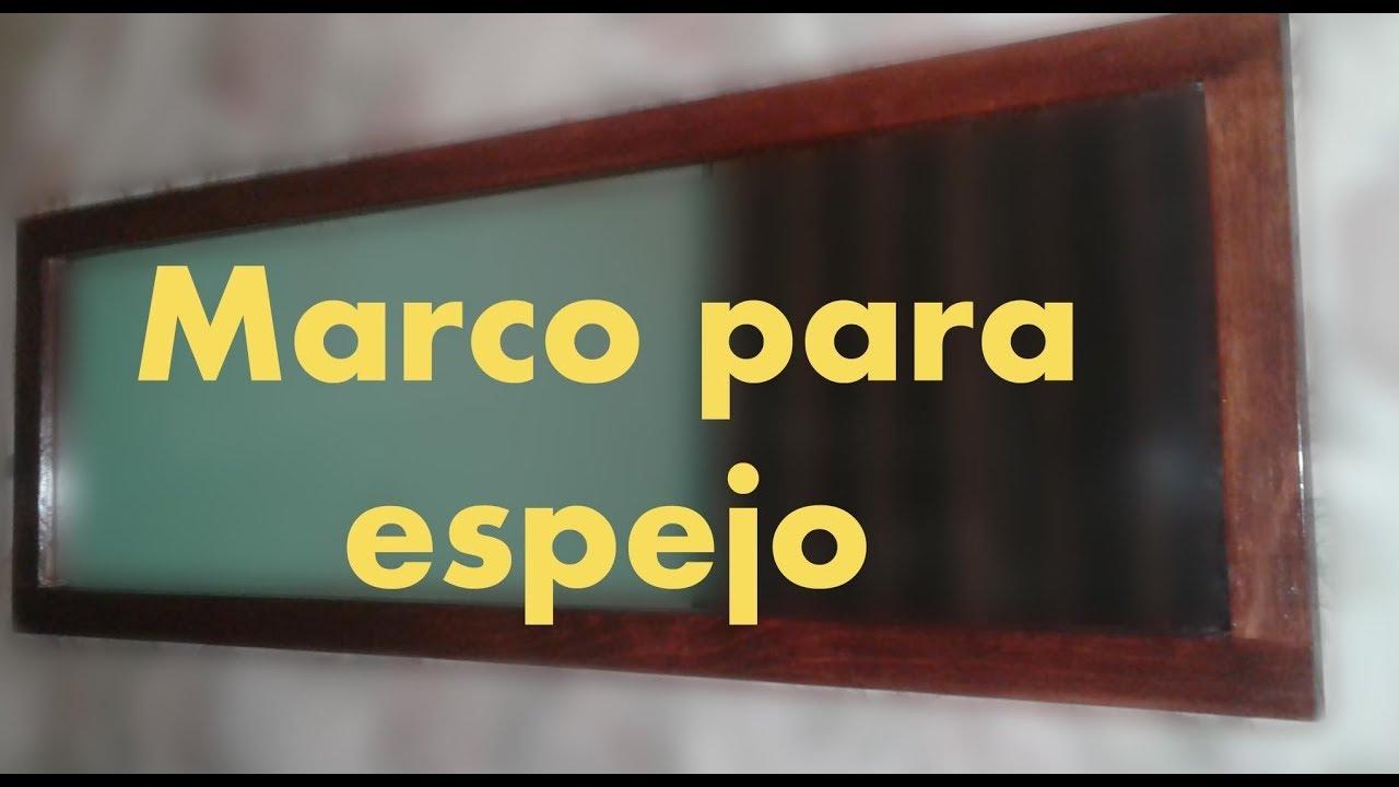 Como hacer marco de madera para espejo con sistema kreg - Como colocar un espejo encima de un aparador ...