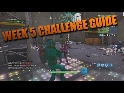 Fortnite Week 5 Challenges All Locations! Fortnite Battle Royale Update!