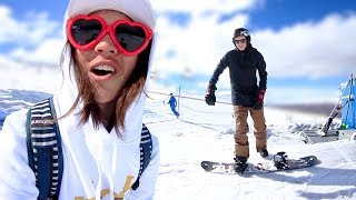 HE TRIED SNOWBOARDING AGAIN! (GONE RIGHT)