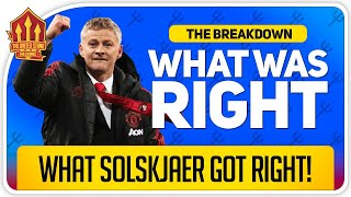 What Solskjaer Got Right! Manchester City 1-2 Manchester United