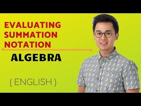 STATISTICS: Evaluating Summation Notation