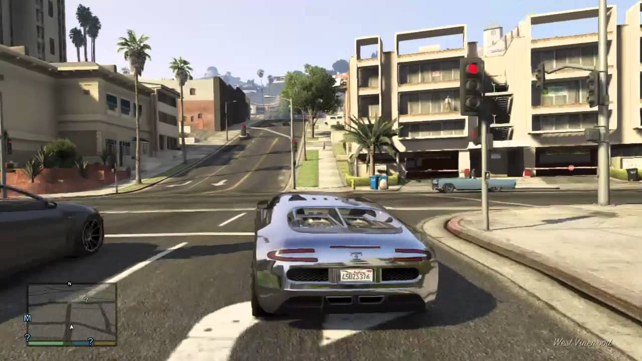 Grand Theft Auto  Driving Cars Out Of Garage