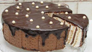 Если есть ПЕЧЕНЬЕ и ТВОРОГ приготовьте ТОРТ Зебра Шикарный рецепт торта без выпечки