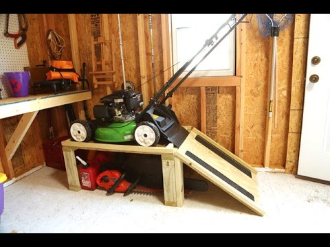 Storage Caddy for Lawn Mower and Yard Tools & Storage Caddy for Lawn Mower and Yard Tools - YouTube
