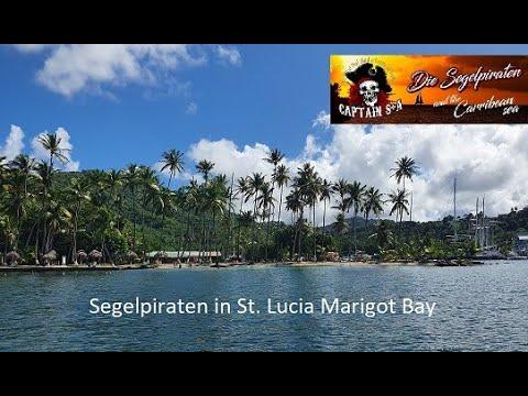 Segelpiraten auf der Insel St Lucia Marigot Bay