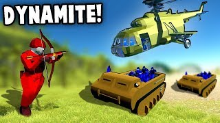 DYNAMITE ARROWS and SUBMARINE Vehicles!?  Top Secret! (Ravenfield Gameplay)