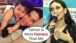 Karishma Kapoor Reaction On Nephew Taimur Ali Khan Being Paparazzi Favrouite