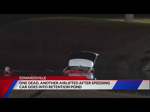 One killed, another injured after car crashes into pond during police chase