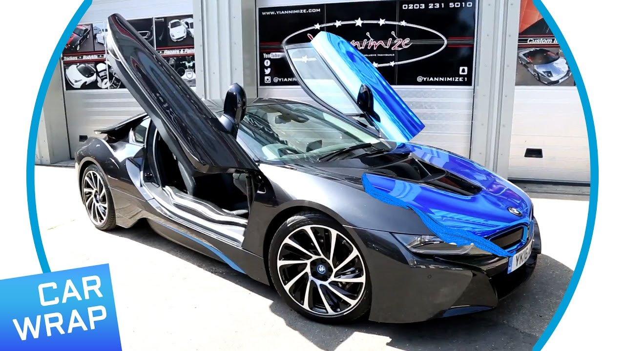 BMW I8 Wrapped Chrome Blue For I Park Lane