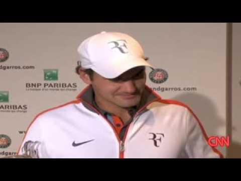 Roger! 2009 Roland Garros Final CNN Interview