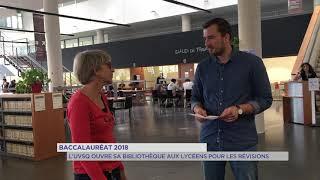 Baccalauréat : l'UVSQ ouvre sa bibliothèque pour les révisions