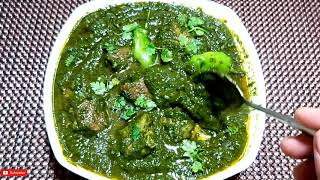 Palak Gosht Recipe. Spinach With Beef By Ijaz Ansari food Secrets.