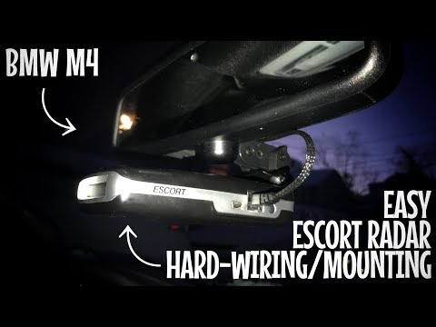 Super EASY Escort Radar Mount and Hard Wire in my BMW M4 (MA Car Broker) (MA Car Broker)