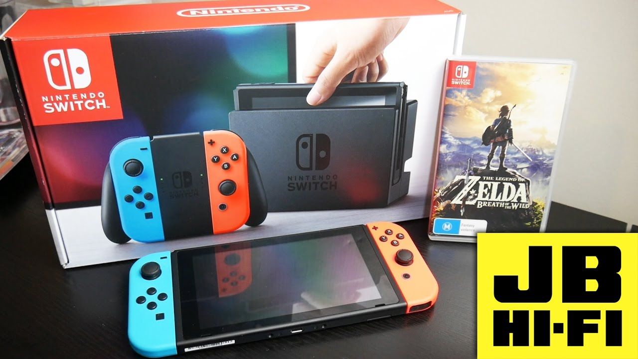 UNBOXING THE NINTENDO SWITCH *NEON* EDITION/ ZELDA BUNDLE ...