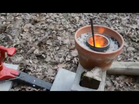 flower pot forge backyard engineering youtube