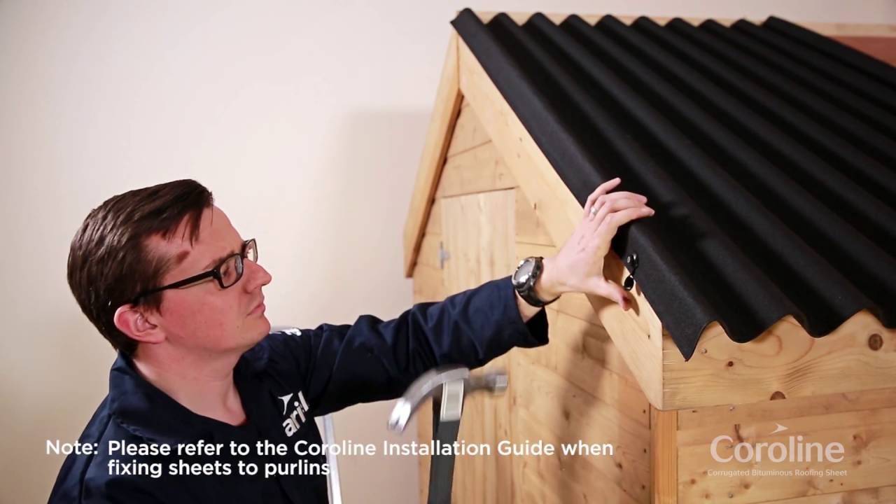 How To Install Coroline Corrugated Bitumen Roofing Sheets Youtube