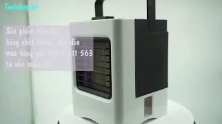 Quạt hơi nước mini để bàn pin sạc|Review quạt hơi nước