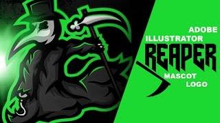 Adobe Illustrator | reaper mascot logo design [FOR SALE!!]