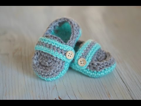 Monk Strap Baby Booties - Crochet Pattern - YouTube