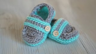 Monk Strap Baby Booties - Crochet Pattern