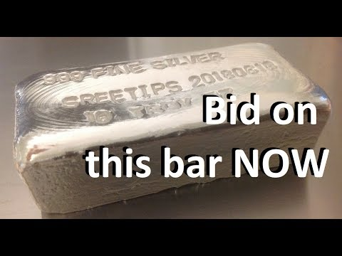 Hand Poured 10 Troy Ounce 999 Fine Silver Bar